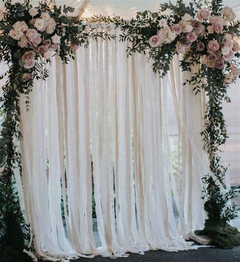 Cotton & Lace Wedding Backdrop   Wedding splender