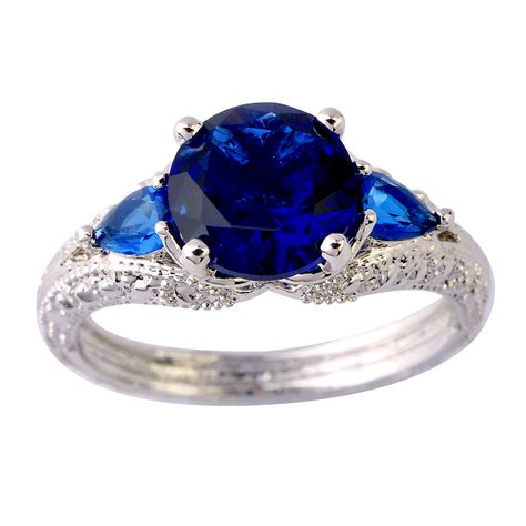 harmony classical 1 75ct sapphire 925 silver ring