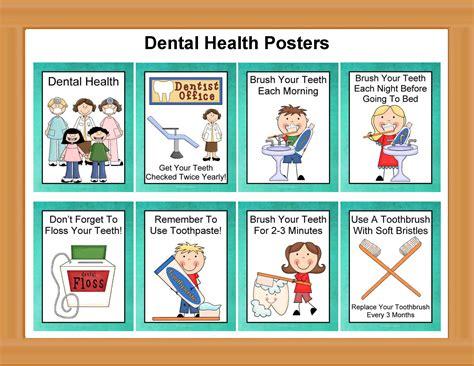 Printable Dental Poster | dental health poster set printable activities