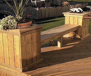 garden bench made from decking diy deck ideas diy decks ideas decking and planters