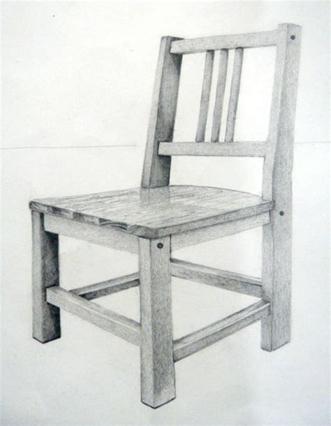 Pencil Drawing Of A Chair