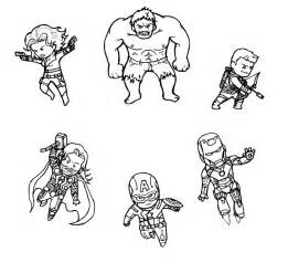 Avengers Pencil Coloring Pages sketch template