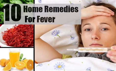10 home remedies for fever treatments cure for