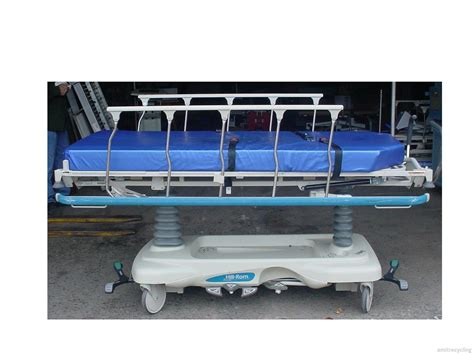 gurney bed hill rom trans star p8000 stretcher surgery gurney transport bed with mattress ebay