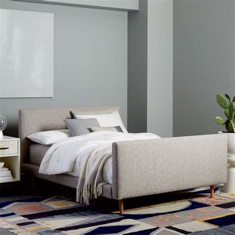 west elm bedroom sale josef upholstered bed feather gray deco weave west elm