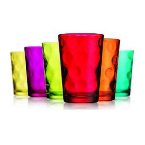 colored glasses sets eclipse set of 6 7oz colored juice glass new