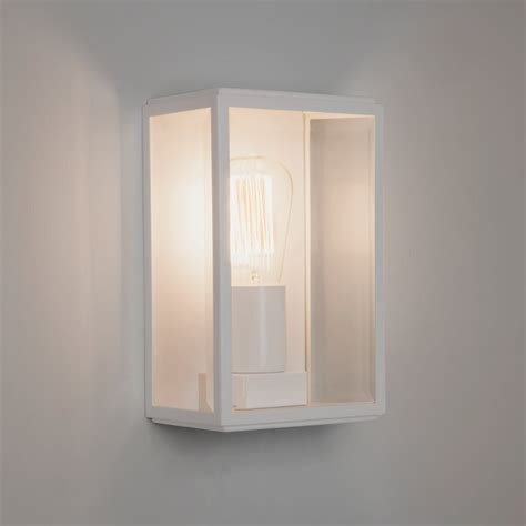 White Wall Lights Astro Homefield Exterior White Wall Light