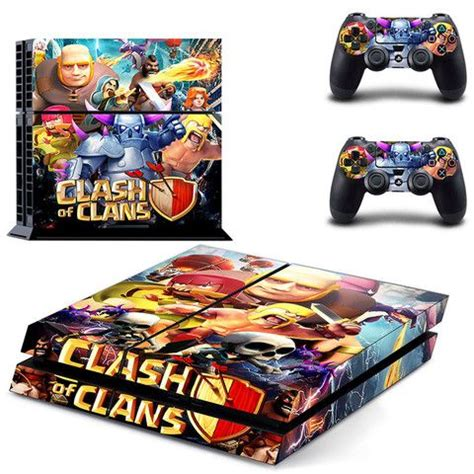 Ps4 Slim Aufkleber Minecraft clash of clans decal for ps4 console skin sticker decal