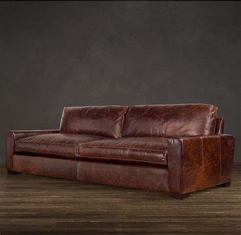 leather recliner sofa repair maxwell leather sofas restoration hardware love the