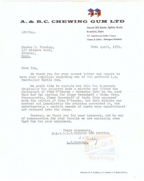 Letter Variants Nigel S Webspace A Bc Chewing Gum 1970 71 Footballers Orange Backs Variant Letter