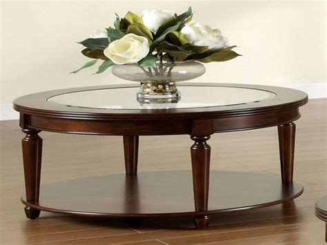 glass and wood coffee table home decoration