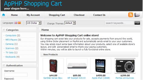 ecommerce website tutorial in php cart php