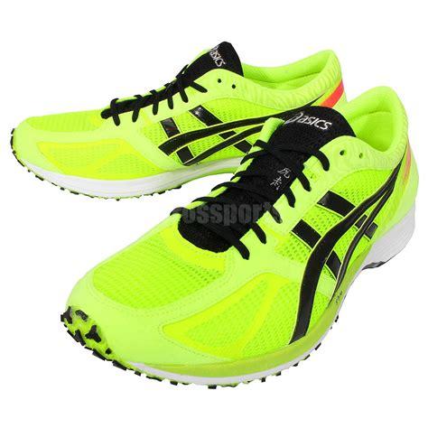 running racing shoes asics tartherzeal 3 volt black mens road running racing