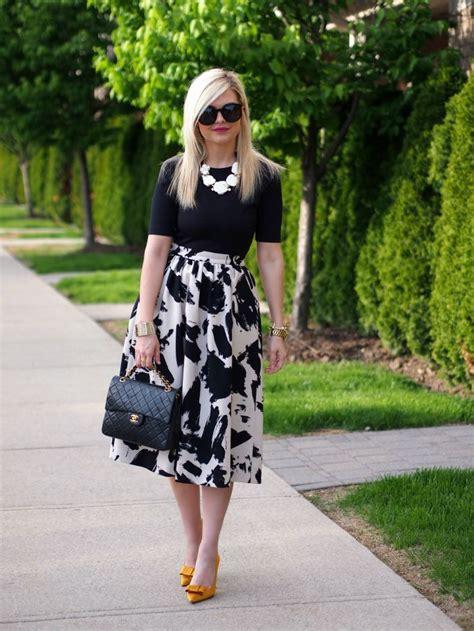 Black And White Line Skirt best 25 white skirts ideas on white midi