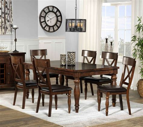 7 dining room set kingstown 7 dining room set chocolate s