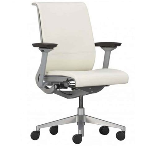 white leather desk chair office furniture