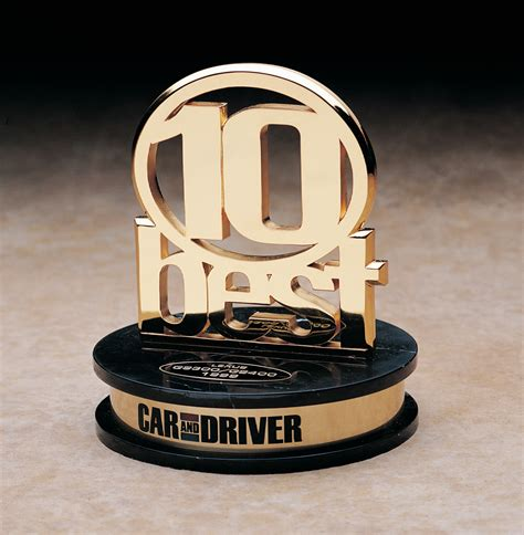 Car Driver 10 Best by Car And Driver Magazine 10 Best Trophy Bruce Fox