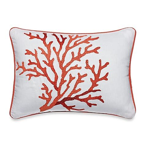 coral bed pillows buy tommy bahama 174 southern breeze coral motif oblong toss