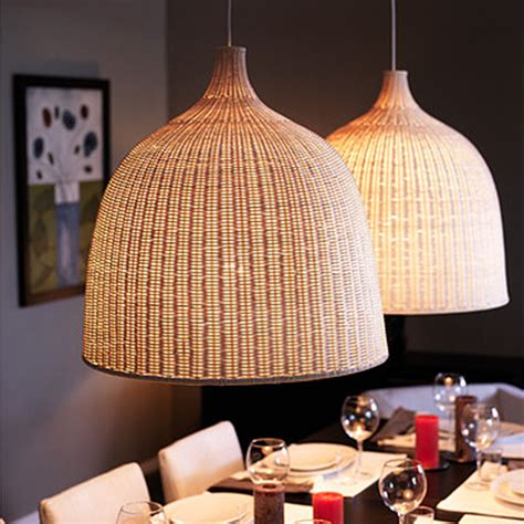 IKEA Modern America Country Cage Rattan Pendant Light