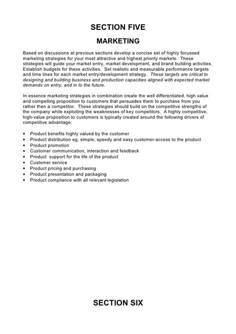 comprehensive plan template 5 comprehensive strategic business plan template