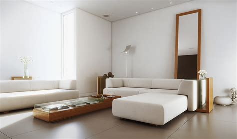 white simple living room interior design ideas