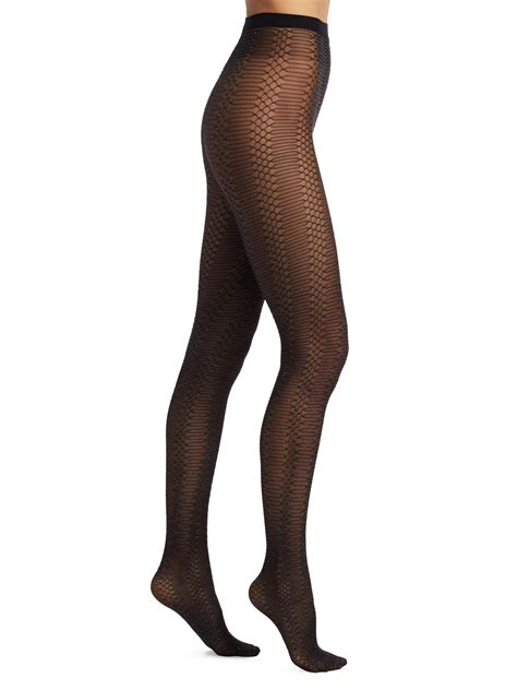 Wolford Net Tights lyst wolford glitter net tights in black
