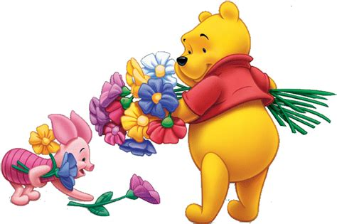 imagenes de winnie pooh con flores san valent 237 n winnie pooh gif animados tarjetas postales