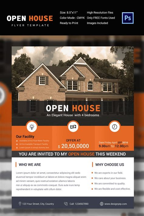 open house flyer template 27 open house flyer templates printable psd ai vector