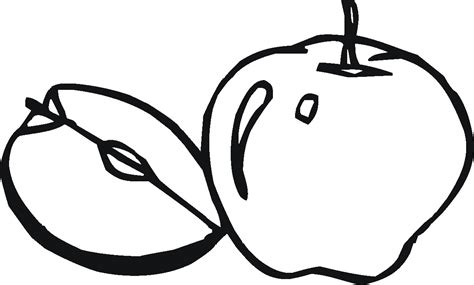 apple half coloring page apple coloring pages for preschoolers 360coloringpages