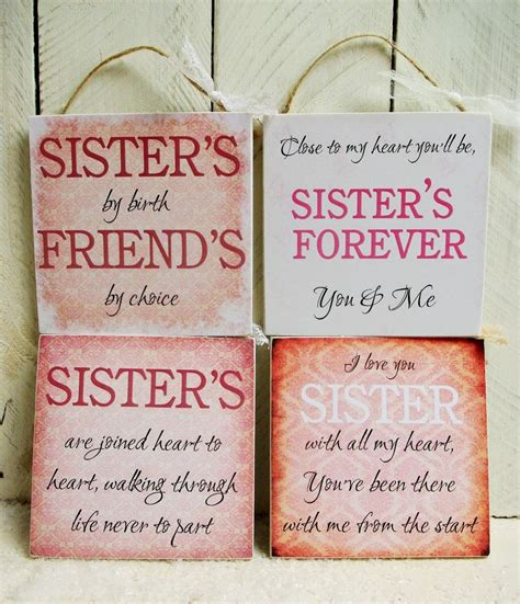 handmade plaque sign gift present sister sayings quotes
