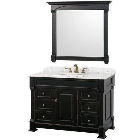 bathroom vanity black wyndham collection andover 48 quot bathroom vanity black finish