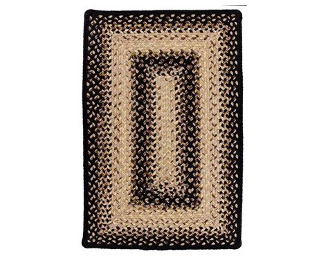 rectangular braided area rugs homespice decor ultra durable braided rectangular black area rug blackmist