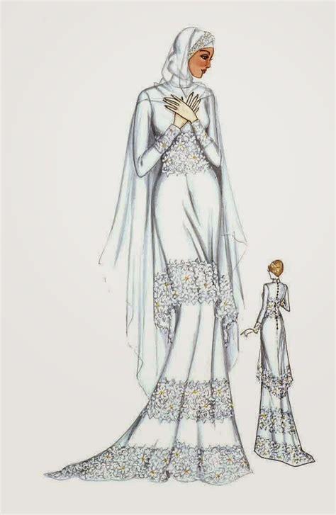 cari contoh gambar desain baju 10 trend model baju muslim pengantin modern terbaru