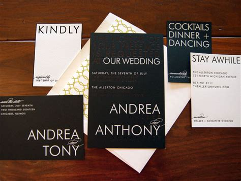 Wedding Invitation Modern selection of modern wedding invitations chic ink