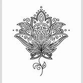 Lotus, Blumen Henna and Blumen-Mandala on Pinterest