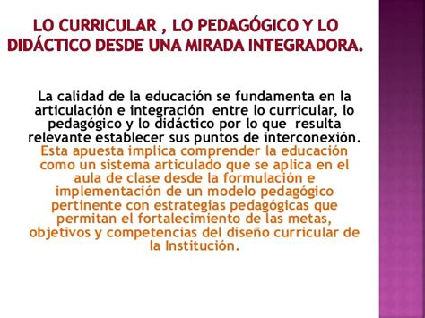 Modelo Curricular Pedagogico Modelo Pedagogico De La Institucion 1