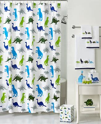 Martha Stewart Table Linens - kassatex bath accessories dino park shower curtain bathroom accessories bed amp bath macy s