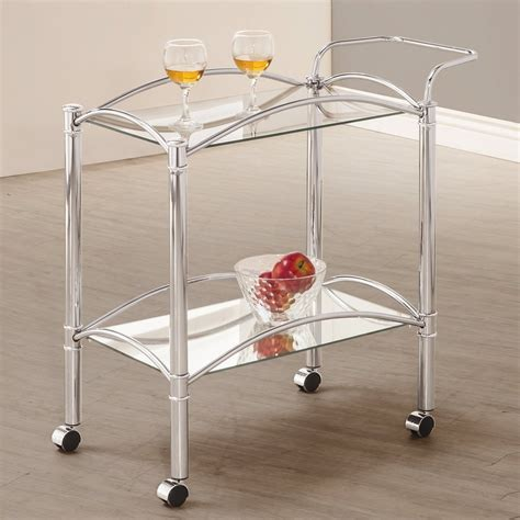 Kitchen Serving Cart by Shop Coaster Furniture Chrome Rectangular Kitchen