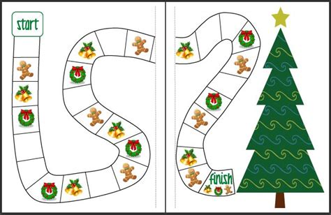 printable board games christmas decorate the christmas tree free cooperative game