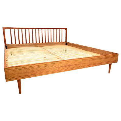 modern king teak bed frame and headboard at 1stdibs
