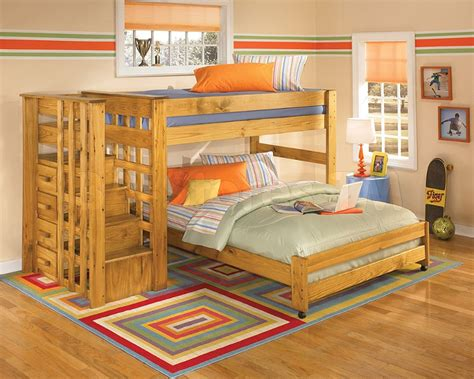 twin  full loft bunk bed  stair step  cute