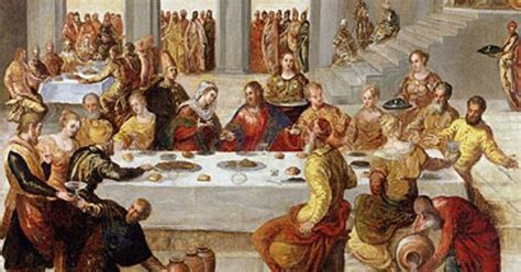 Wedding At Cana Catholic Homily by The Wedding Feast At Cana C 1545 By Tintoretto Boston