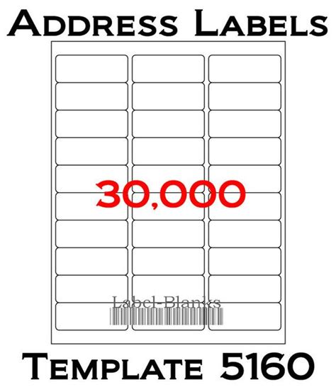 Laser Ink Jet Labels 1000 Sheets 1 X 2 5 8 1 X 2 5 8 Inch Label Template