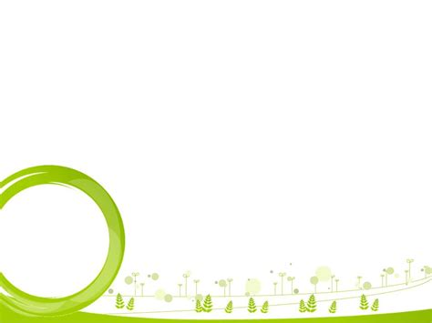templates ppt green green circles and winter landscape powerpoint ppt