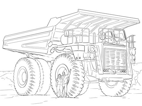 coloring page big truck big truck coloring pages