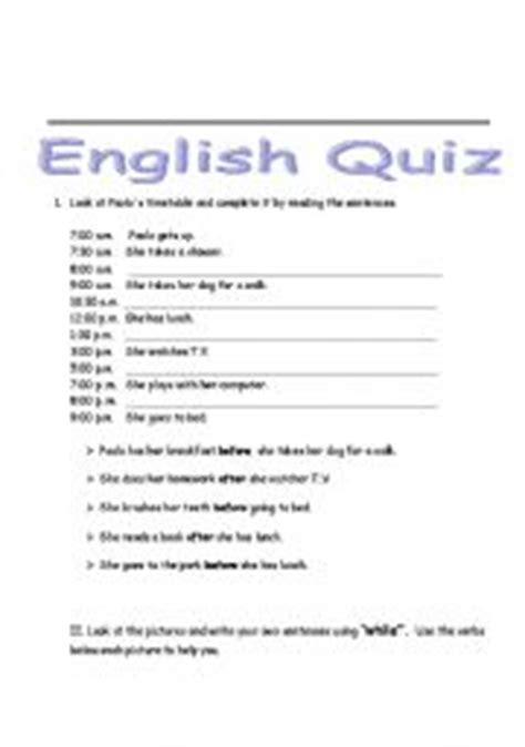 printable conjunction quiz english worksheets conjunction quiz