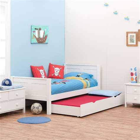 beds kids classic single bed with trundle bed by stompa