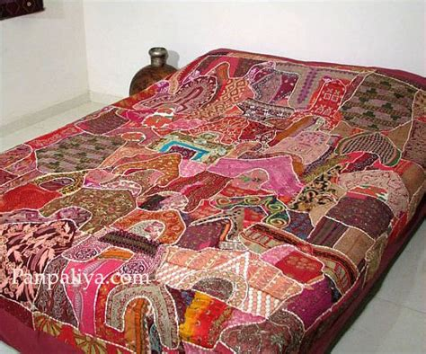 indian bed covers vintage sari indian bedding ethnic bedspreads coverlet