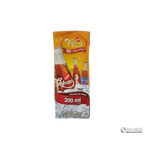 Teh Kotak Botol detil produk sosro teh botol kotak 200 ml 6 x 13