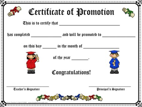certificate of promotion template promotion certificate templates for excel pdf and word